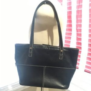 Kate Spade Vintage Black leather LG shoulder bag